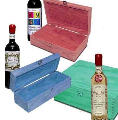 Teñido de cajas de madera
