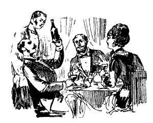 Sumiller mostrando vino
